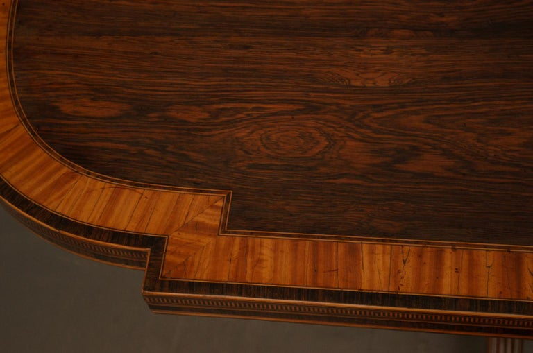 English Exquisite Regency Rosewood Card Table For Sale