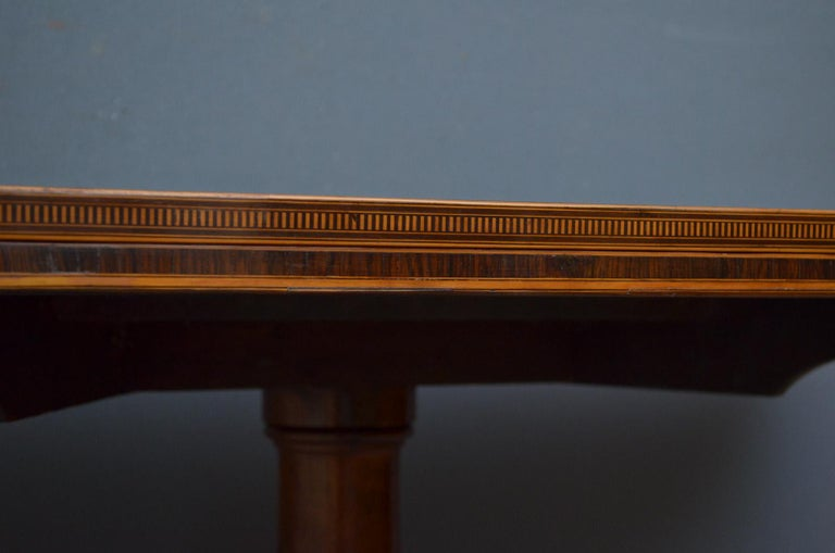 Early 19th Century Exquisite Regency Rosewood Card Table For Sale