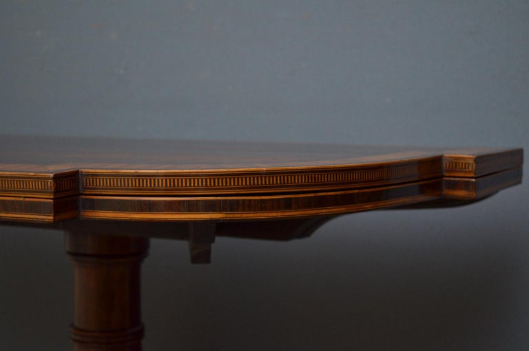 Exquisite Regency Rosewood Card Table For Sale 1