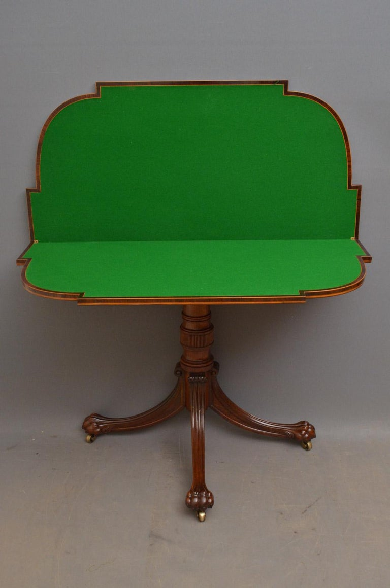 Exquisite Regency Rosewood Card Table For Sale 3