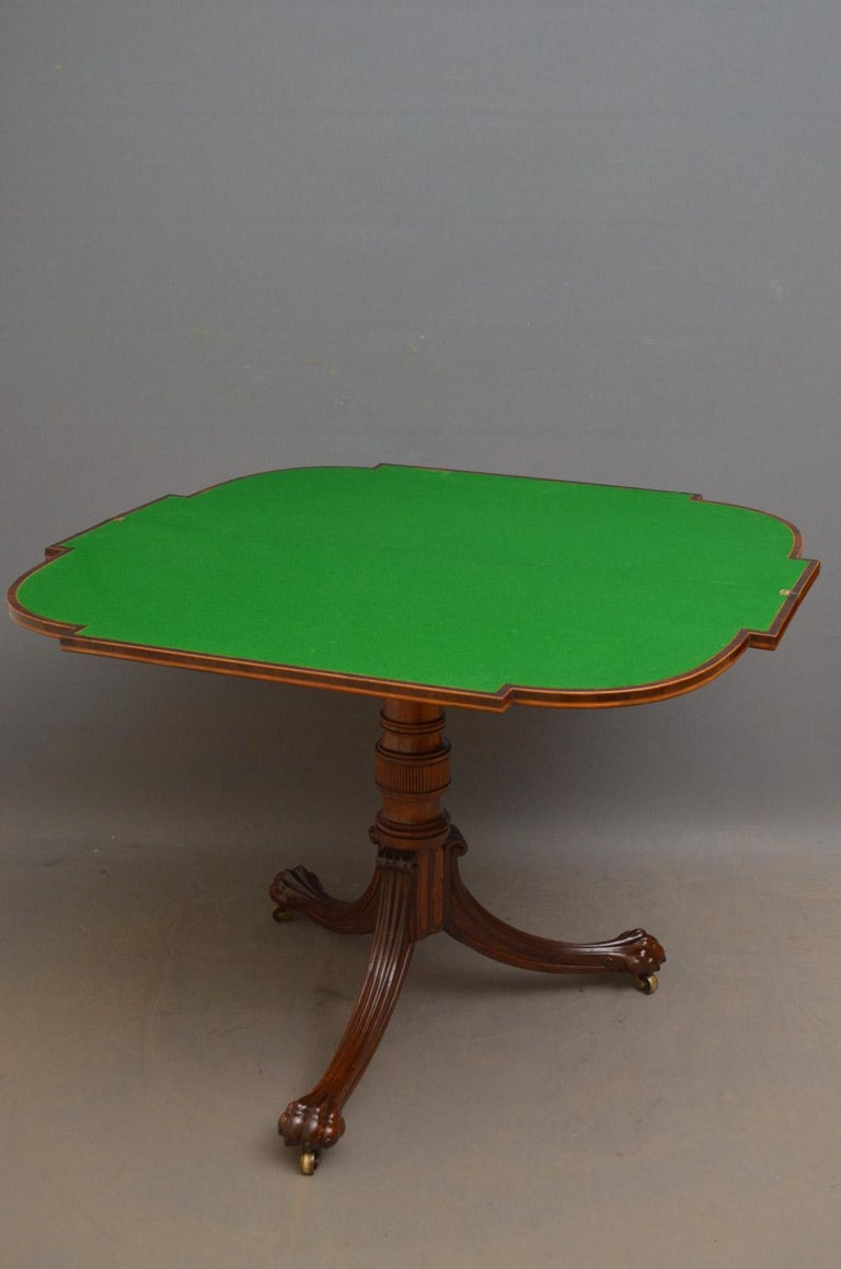 Exquisite Regency Rosewood Card Table For Sale 4