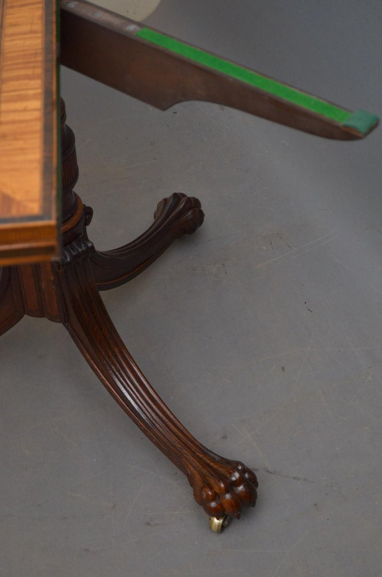 Exquisite Regency Rosewood Card Table For Sale 7