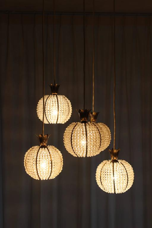 Pineapple Chandelier By Hillebrand 1950s For Sale At 1stdibs
