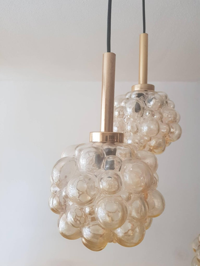 Hollywood Regency Vintage Bubble Glass Chandelier by Helena Tynell, 1960s For Sale