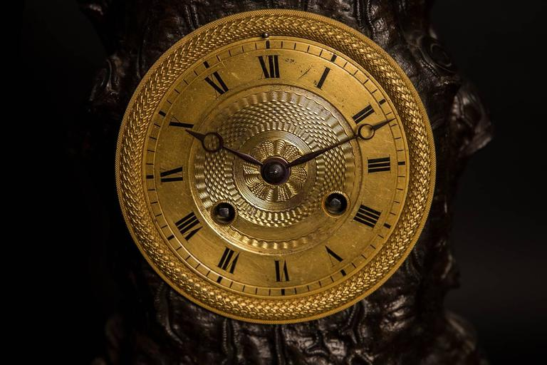 Metal Large French Empire Ormolu Hercules and the Apple of Hesperides Clock circa 1820 For Sale