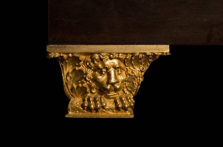 Large French Empire Ormolu Hercules and the Apple of Hesperides Clock circa 1820 For Sale 5