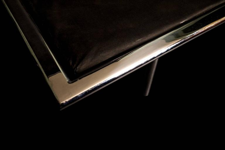 Covetable 1962 Chrome Base Van Der Rohe Barcelona Daybed for Knoll, 20th Century 4