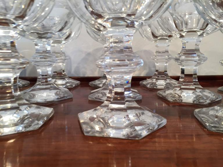 19th Century French Baccarat Harcourt Champagne Coupe Glasses, Set ...