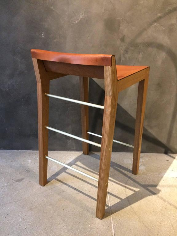 Lincoln Counter Height Stool By Asher Israelow In Oak