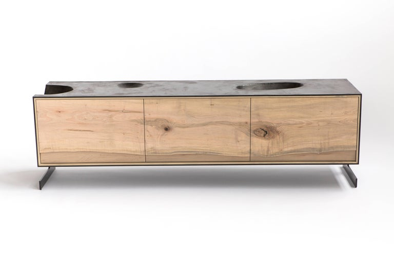 PW Outside in Credenza by Patrick Weder, Maple and Concrete 2