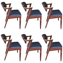 12 Kai Kristiansen chairs Model 42 in Rosewood CUSTOM UPHOLSTERY AVAILABLE