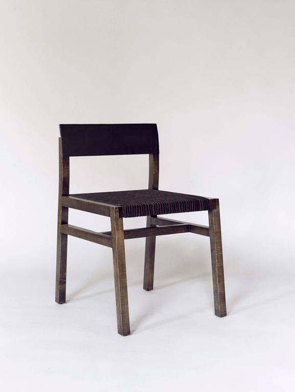 American 36 Chair w/ Leather Seat - Customizable finishes For Sale