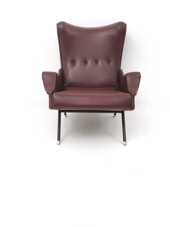 Mid-20th Century Italian Lounge Chair, 1950s For Sale