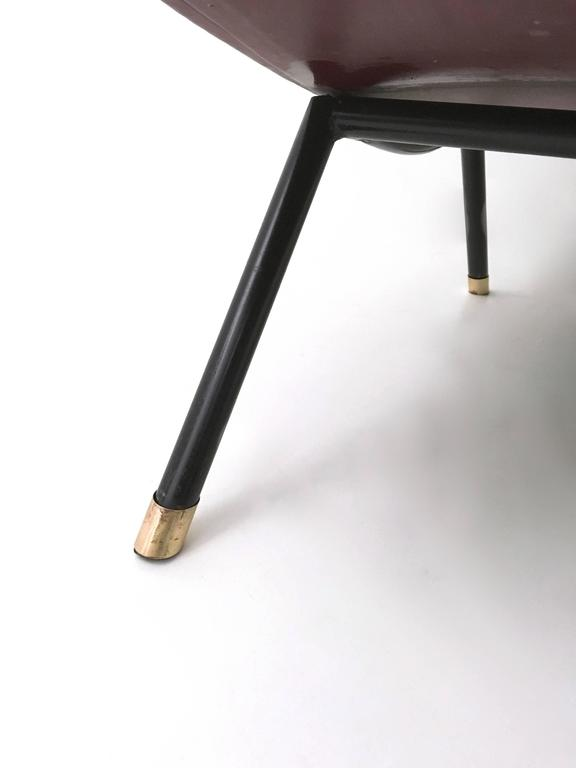 Brass Italian Lounge Chair, 1950s For Sale