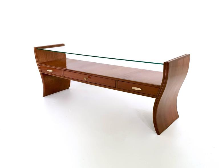 Italian Console Table, Tv Stand Or Vanity Ascribable To Guglielmo Ulrich,  1940s 1950s