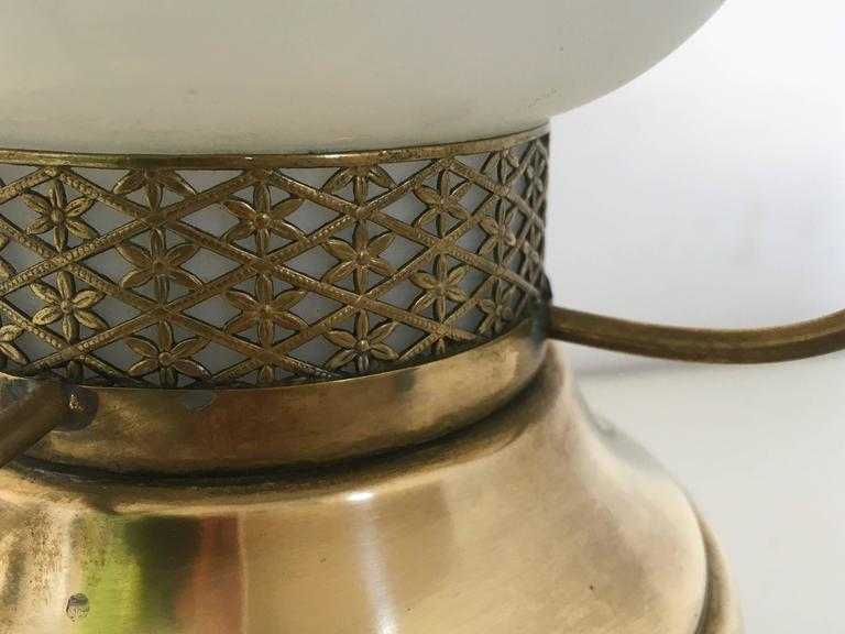 Brass Italian Lantern Table Lamp, 1950s For Sale