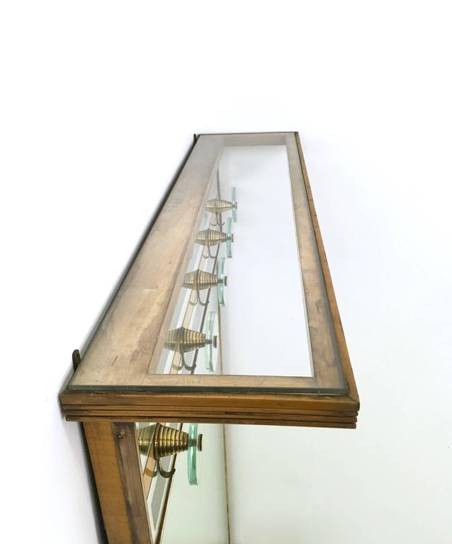 Italian Illuminated Coat Rack Ascribable to Fontana Arte, 1940s-1950s For Sale 1