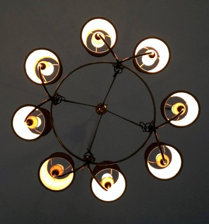 Brass Chandelier Attributed to Gino Sarfatti, Italy, 1940s For Sale