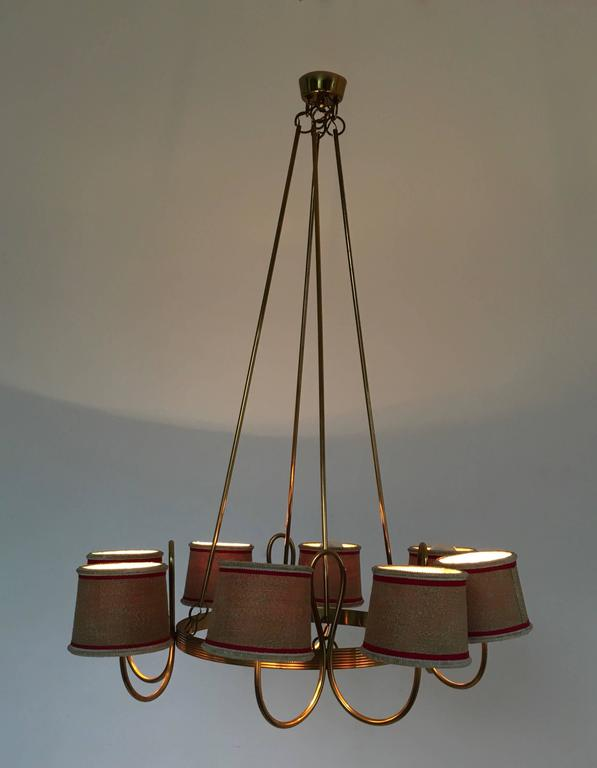 Mid-20th Century Chandelier Attributed to Gino Sarfatti, Italy, 1940s For Sale