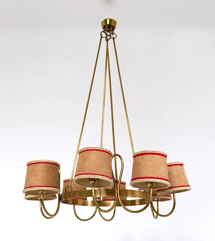 Italian Chandelier Attributed to Gino Sarfatti, Italy, 1940s For Sale