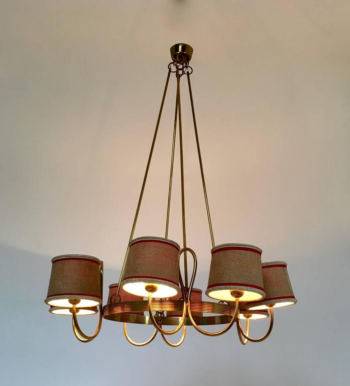 Chandelier Attributed to Gino Sarfatti, Italy, 1940s In Excellent Condition For Sale In Bresso, Lombardy