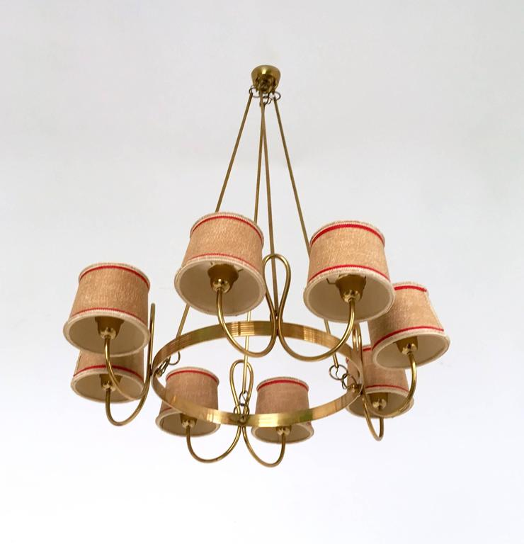 Chandelier Attributed to Gino Sarfatti, Italy, 1940s 2