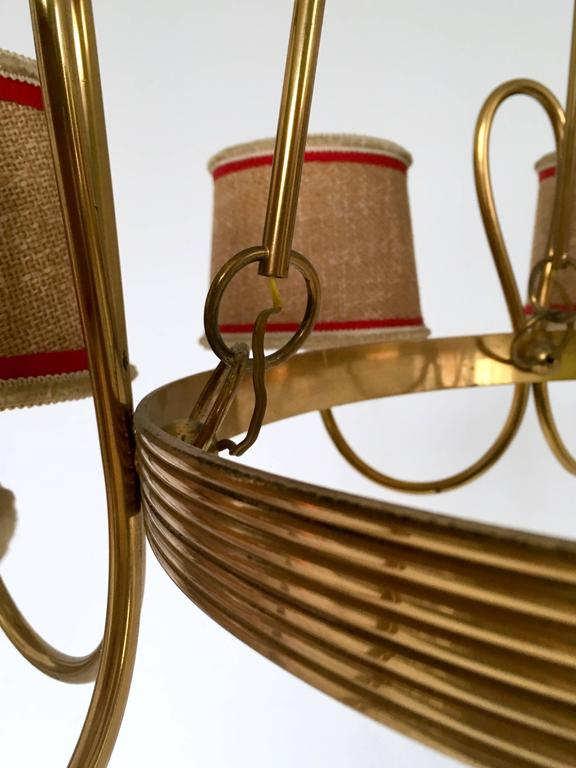 Chandelier Attributed to Gino Sarfatti, Italy, 1940s For Sale 3