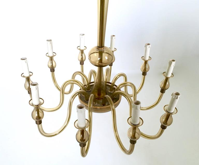 Vintage Murano Glass Chandelier, Italy, 1940s In Good Condition For Sale In Bresso, Lombardy