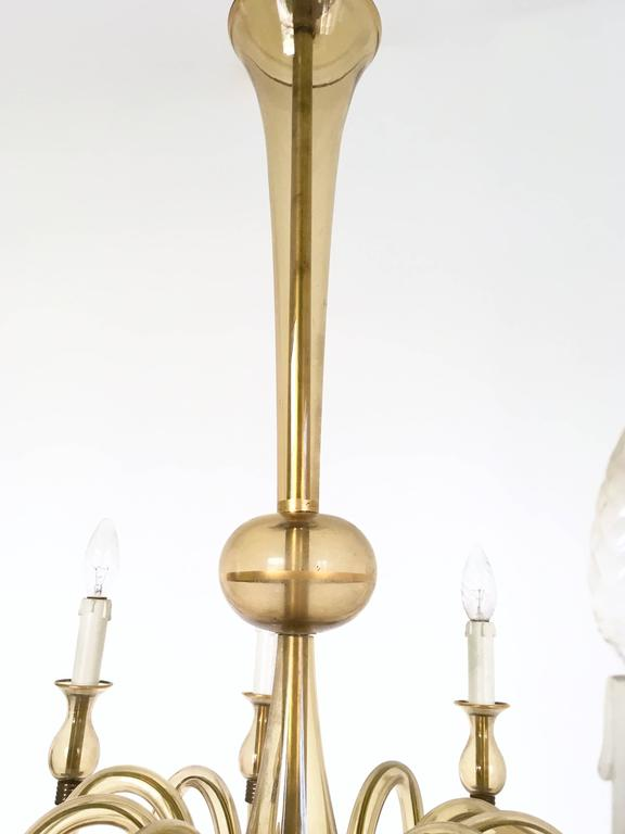 Vintage Murano Glass Chandelier, Italy, 1940s For Sale 1