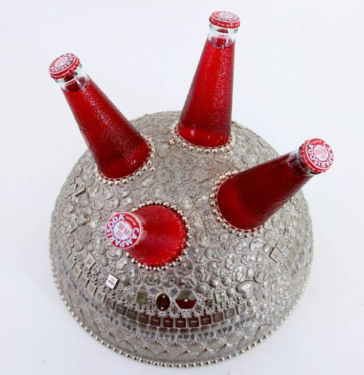 Unusual Centerpiece with Campari Bottles by Franco Corso, Italy, 2010 In Excellent Condition For Sale In Bresso, Lombardy