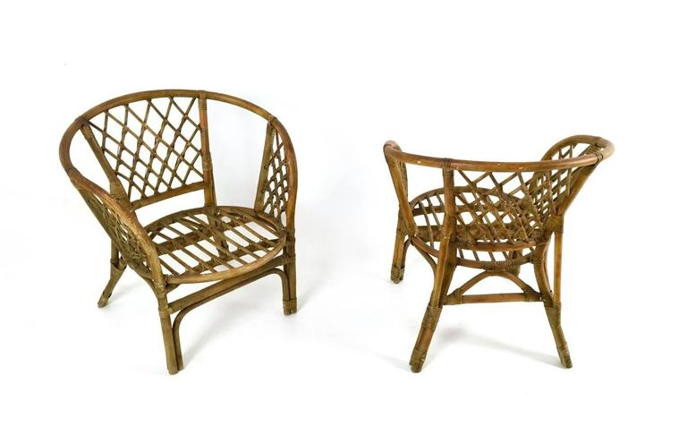 Vintage Wicker Set, Italy, 1950s For Sale 3