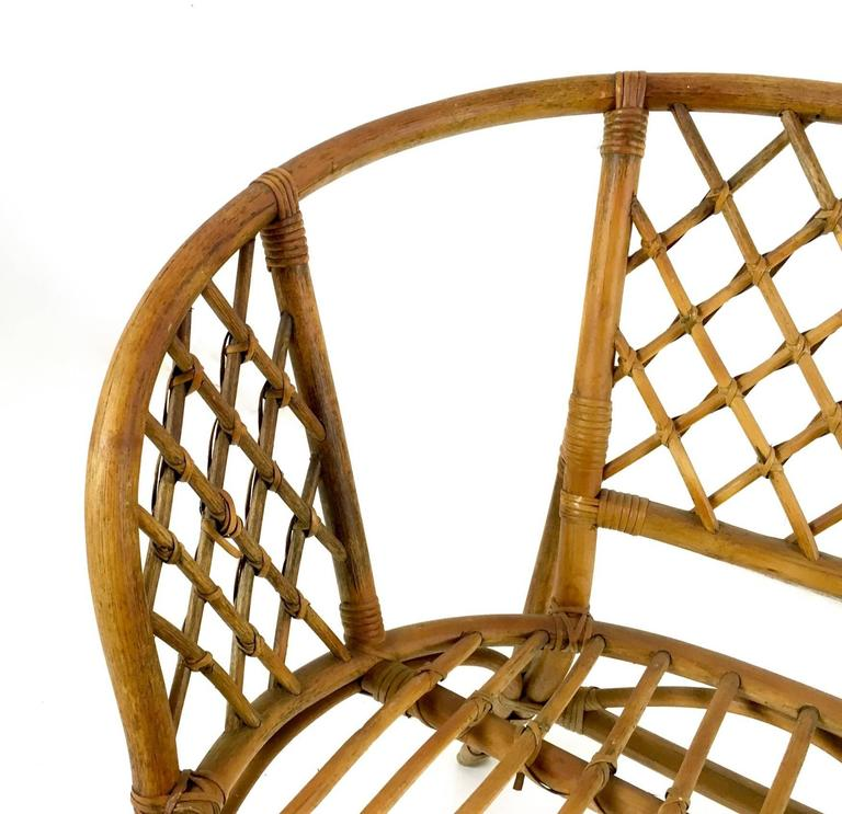 Vintage Wicker Set, Italy, 1950s For Sale 1