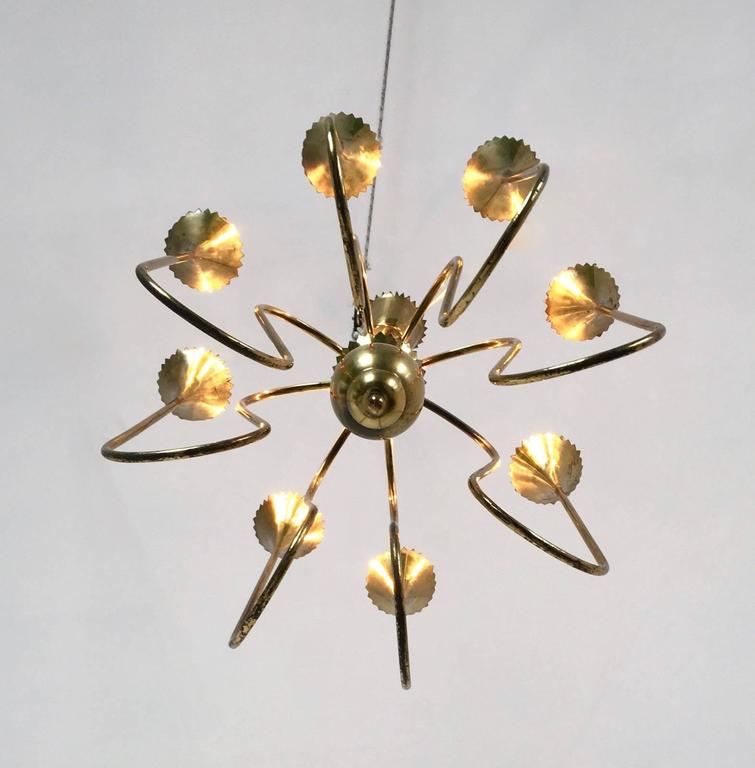 Wonderful and Elegant Chandelier Highly Ascribable to Ulrich, Italy, 1940s In Excellent Condition For Sale In Bresso, Lombardy