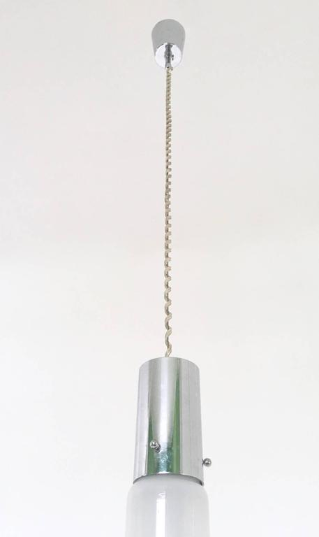 Mid-20th Century Pair of Pendants Ascribable to Alessandro Pianon for Vistosi, Italy, 1960s For Sale