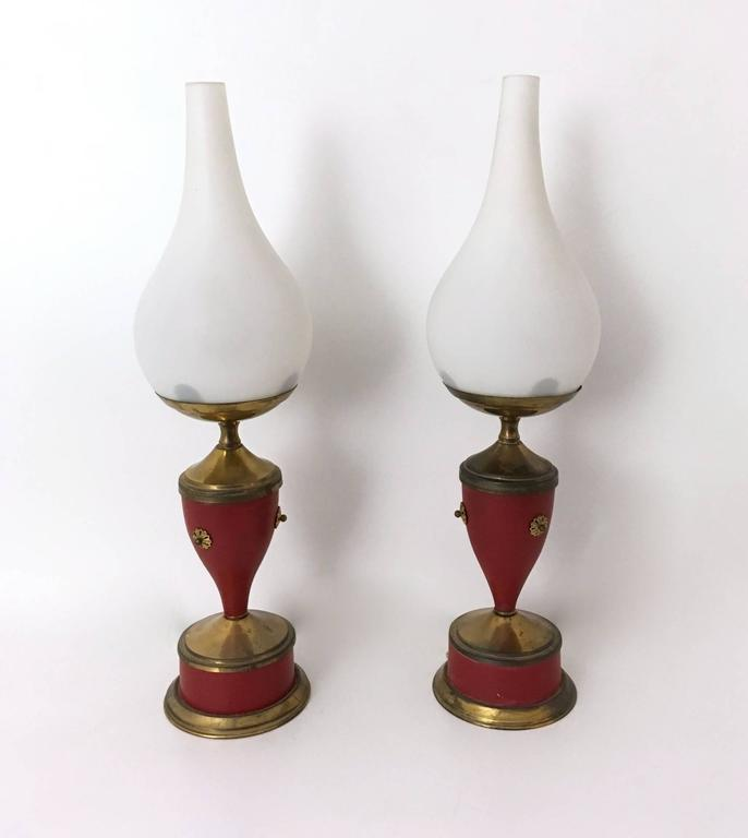 Italian Pair of Wonderful Table Lamps, Italy, 1950s For Sale