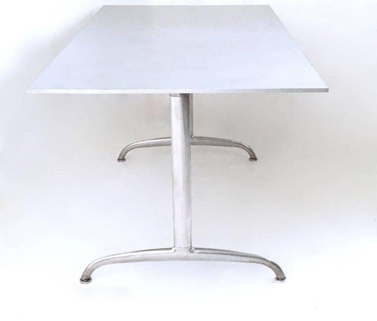 Italian Aluminum Table or Writing Desk, Italy, 1950s For Sale