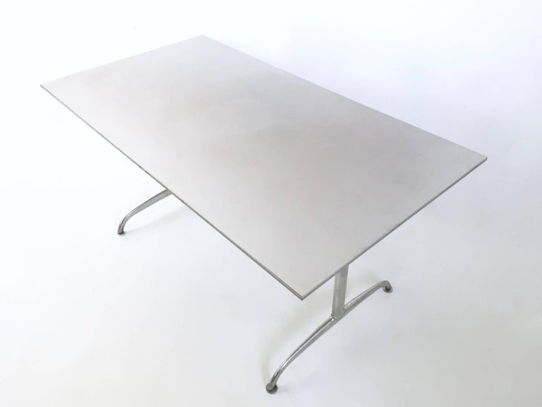 Aluminum Table or Writing Desk, Italy, 1950s In Excellent Condition For Sale In Bresso, Lombardy