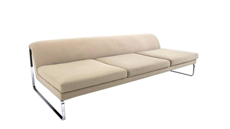 Italian Beige Sofa Designed by Gordon Guillaumier with Fabric by Tacchini, Italy, 2000s For Sale
