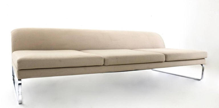Contemporary Beige Sofa Designed by Gordon Guillaumier with Fabric by Tacchini, Italy, 2000s For Sale