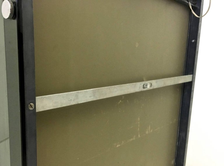 Smoked Glass and Chrome-Plated Wall Mirror by Veca, Italy, 1970s For Sale 1