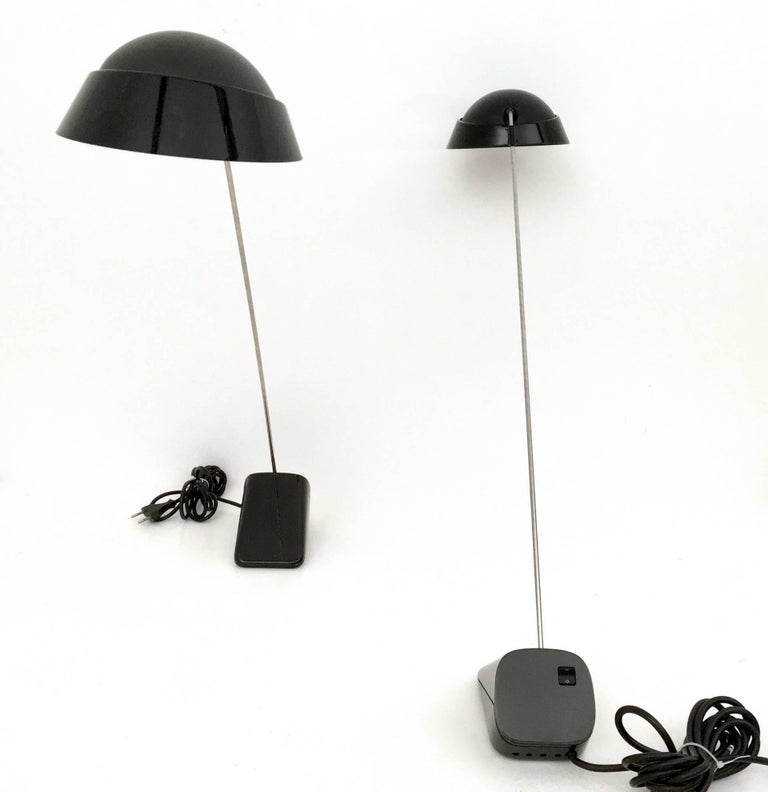 "Pair of Desk Lamps ""Ipotenusa 630"" by Achille Castiglioni for Flos, Italy, 1970s 6"