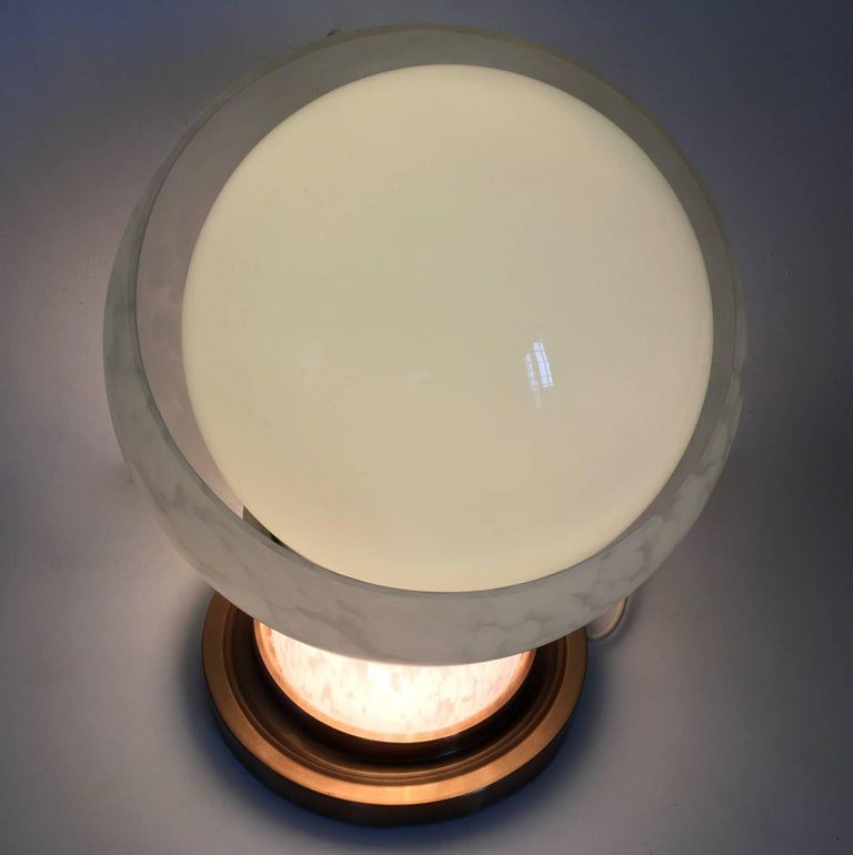 Blown Glass Table Lamp by Mazzega, Italy, 1970s For Sale 1