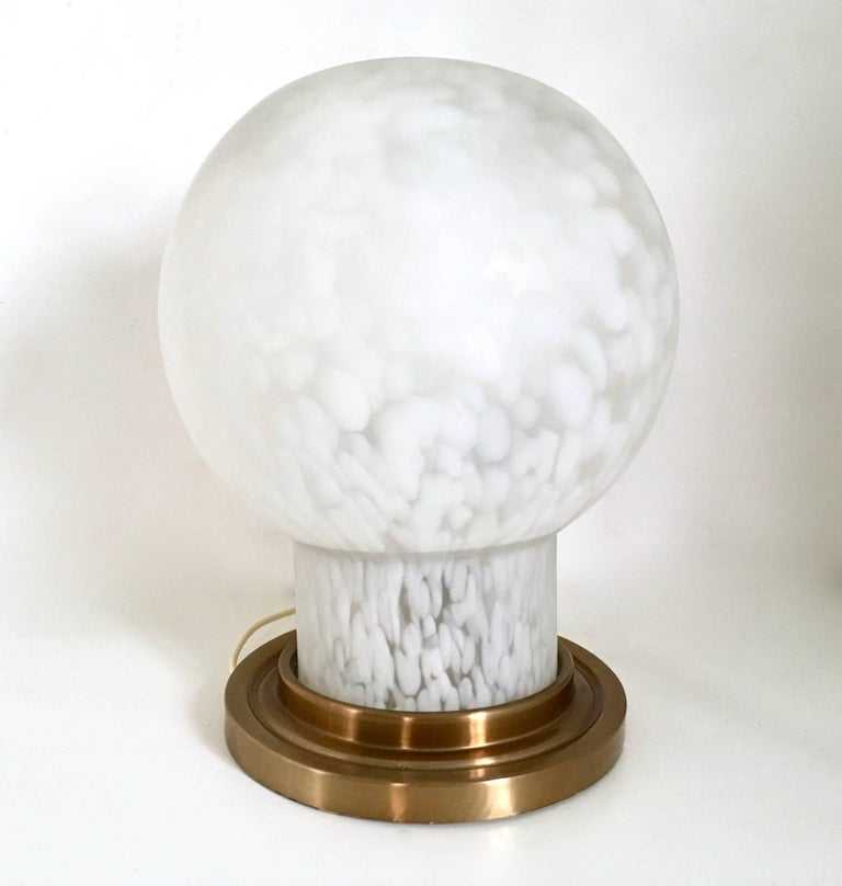 Blown Glass Table Lamp by Mazzega, Italy, 1970s For Sale 2