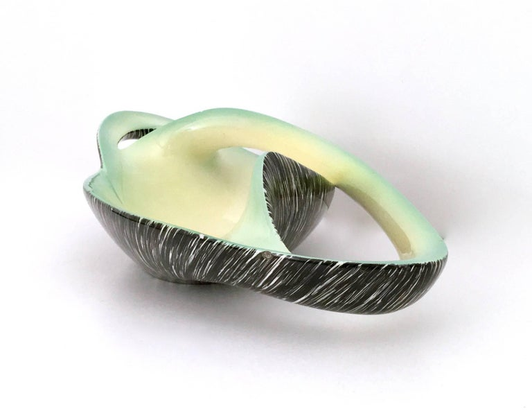 Lacquered Stunning Sinuous Ceramic Centrepiece by Vibi, Italy, 1950s For Sale