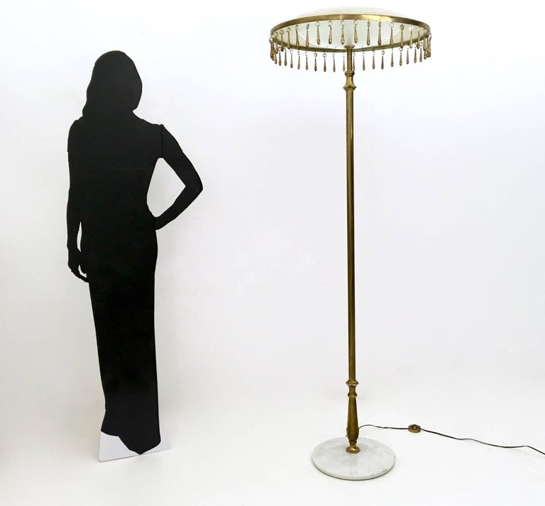 Italian Brass Floor Lamp Mod. 12477 by Angelo Lelli Produced by Arredoluce, Italy, 1955 For Sale