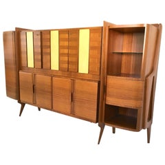 Rare Monumental Cabinet by Ico Parisi with Parchment Panels, 1950s