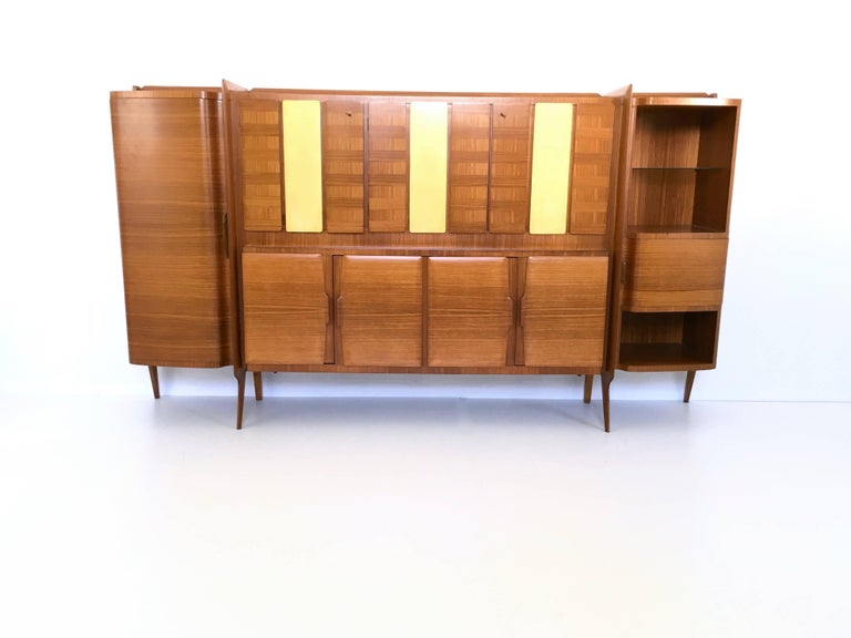 This is an amazing cabinet in excellent condition. It has parchment panels and it is made from a rare exotic wood.  Literature: Roberta Lietti, Ico Parisi Design Catalogo Ragionato 1936-1960, Silvana Editoriale, 2017, p. 374