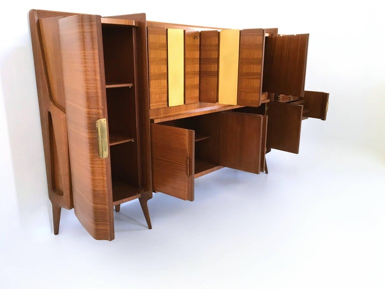 Rare Monumental Cabinet by Ico Parisi with Parchment Panels, 1950s In Excellent Condition For Sale In Bresso, Lombardy