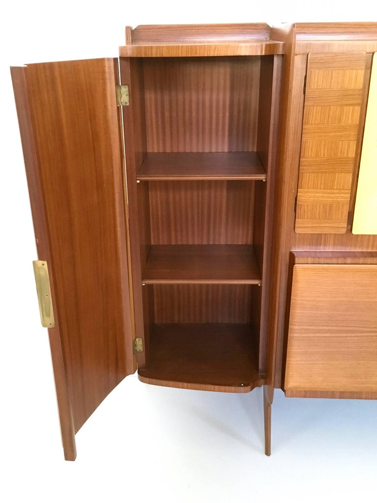 Mid-20th Century Rare Monumental Cabinet by Ico Parisi with Parchment Panels, 1950s For Sale