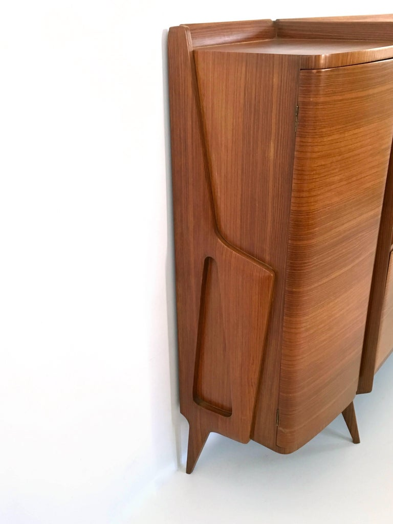 Rare Monumental Cabinet by Ico Parisi with Parchment Panels, 1950s For Sale 4